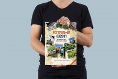 model holding A4 cover extreme eesti