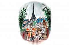 Paris-vaade-rõdult